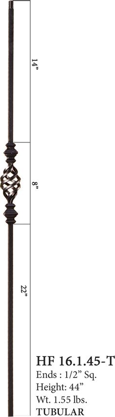16.1.45 T Single Basket Hollow Iron Baluster. Cheap Stair Stain IdeasParts  ...