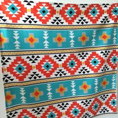 We just thought we'd show how the overall print of our Aztec baby blanket looks, it's such a striking blanket!