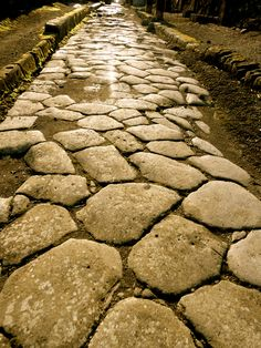 Roman road at Pompeii