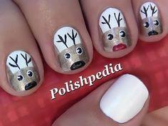 Reindeer Christmas Nail Art   Polishpedia