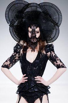 MADE TO ORDER Nior Black Dahlia Raven por PoshFairytaleCouture