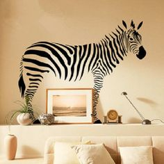 Giant Zebra Animal Removable Peel U0026 Stick Wall Decal Sticker SL9057