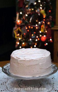 Christmas Strawberry Cheesecake Cake
