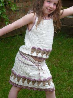 crochet kids skirt pattern