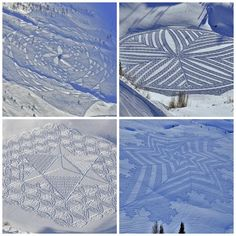 Snowshoe Snow Art