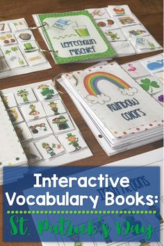 These Interactive Preschool Vocabulary books are designed for teaching vocabulary concepts related to St. Patrick's Day. The interactive books are designed to allow students to match pictures to each page of the book using velcro.