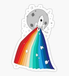 Pride Rocket Sticker
