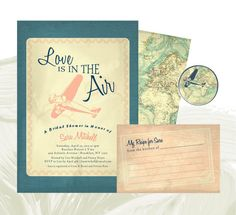 Love is in the Air Invite Suite  Custom by PAPERandPASTICHE