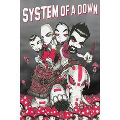 #Poster verticale dei System Of A Down. Dimensioni: 91,5 x 61 cm.