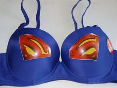 The Superman Logo Bra. by dressstar on Etsy Superman Gifts, Superman T Shirt, Superman Logo, Superman Stuff, Louis Vuitton Sneakers, Geek Gear, Cute Costumes, Bra Lingerie, Purple Lingerie