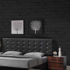 Brick Wallpaper, Wallpaper Brick effect wallpaper, Charcoal Colour 17.97 a roll