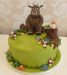 Gruffalo birthday cake 2nd Birthday, Birthday Parties, Birthday Ideas, Gruffalo Party, Novelty Cakes, Party Cakes, First Birthdays, Cake Decorating, Fish