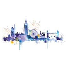 Found it at Wayfair.co.uk - London Skyline by Summer Thornton Canvas Wall Art