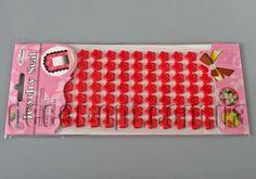 Пуговицы на стикере красные 12мм  77шт