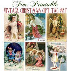Vintage Christmas Tag Set | Flickr - Photo Sharing!