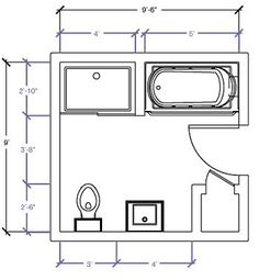 9x9.5 layout | Bathroom | Pinterest | Master bathrooms ...