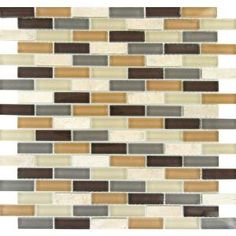 MS International, Luxor Valley Brick Pattern 12 in. x 12 in. Multi Glass Mesh-Mounted Mosaic Tile, THDW1-SH-LV-8MM at The Home Depot - Mobile
