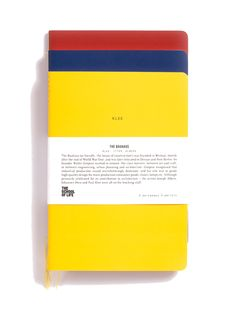 The School of Life : Bauhaus Notebooks