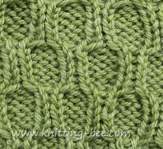 Honeycomb Trellis Cable Stitch and other st patterns