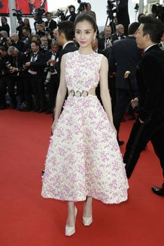 Cannes 2015 red carpet: Angelababy in DIOR Spring 2015 Haute Couture