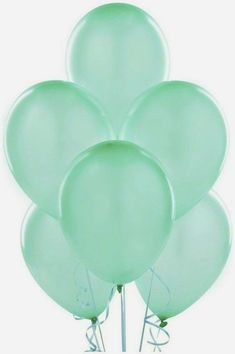 Wedding Balloon Decorations, Wedding Balloons, Birthday Party Decorations, Birthday Parties, Natural Rubber Latex, Balloon Bouquet, Latex Balloons, Pantone Color, Mint Green