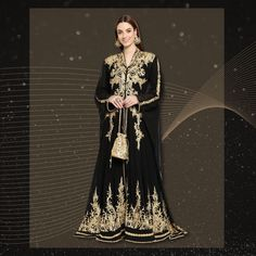 A dress so nice, it will make them look twice! Replace your basic black evening dress with this glam Embroidered Abaya Maxi for a one of a kind party look! Get yours now! Product no: 8884