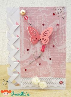 Butterfly braided card.