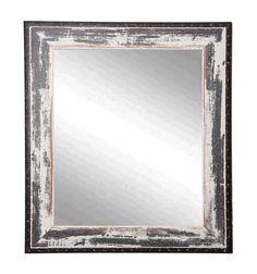 "Rayne Mirrors Rustic Ivory Coast Wall Mirror 29.5""""x 35.5"""""