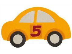 Dětský kusový koberec Auto Joy 4031/23, žlutý, 90 X 155cm, 1764Kc, Akryl (Arte Espina, cena ted po 50% sleve)