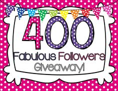 Polka Dot Kinders: BOGO Sale & 400 Fabulous Followers Giveaway!
