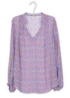 blouse imprime bleu by day off