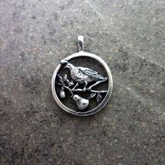 Holiday Christmas jewelry gift 12 days partridge pear tree charm pendant 14k gold silver Handmade USA – All Animal Jewelry & Jan David Design Jewelers