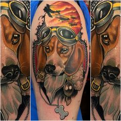 neo-traditional dog tattoo - Google Search