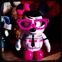 vinylmation! Me and the hubby collect these guys. Nerd Minnie is my newest favorite that we have recently added :-)