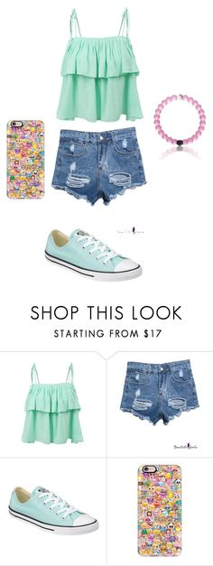 """""""Summer Outfit"""" by katie0298 on Polyvore featuring LE3NO, Converse, Everest, Casetify, women's clothing, women, female, woman, misses and juniors"""