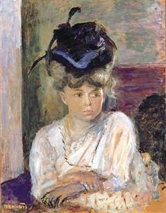 Pierre Bonnard - The Blue Ribboned Hat