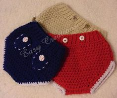 Macho Baby Boy Diaper Cover, with pockets PDF CROCHET PATTERN by Easy Creations.