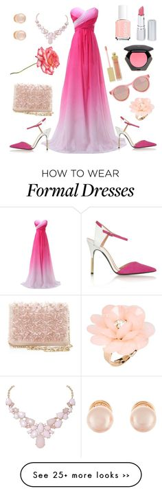 """""""Pink Everywhere!!"""" by fluffy-wolf on Polyvore featuring Roland Mouret, HoneyBee Gardens, Essie, Kenneth Jay Lane, H&M, AERIN, Humble Chic, Oscar de la Renta, Le Specs and Dettagli"""