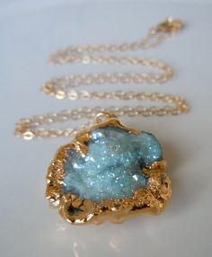 druzy necklace - More Details → http://sylviafashionstylinglife.blogspot.com/2013/09/druzy-necklace.html.