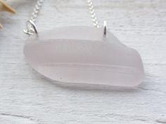 Purple Scottish Sea Glass Sterling Silver Necklace - UNIQUE £20.00