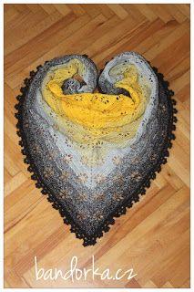 bandorka: Háčkovaný kytičkový šátek Virag Crochet Shawl, Magick, Wraps, Handmade, Scarfs, Gloves, Knitting, Shawl, Tejidos