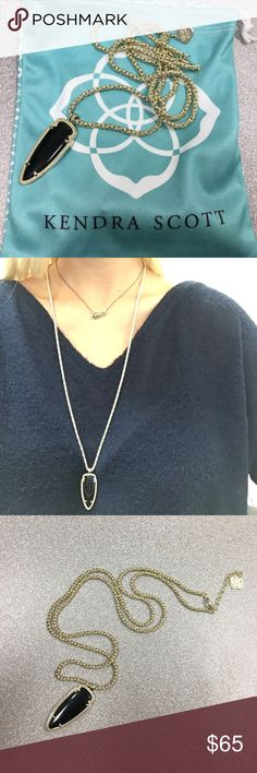 Shaylee Black Kendra Scott Necklace In perfect condition. Only worn once! Super cute for any occasion. Not heavy at all. Goes with anything! Kendra Scott Jewelry Necklaces