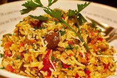 Saffron Scented Mediterranean Rice Recipe #MinuteMeals ad