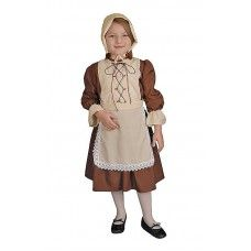 Colonial Girl Costume Includes Apron and Headpiece | Little Girl Style