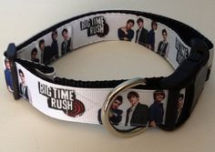 Big Time Rush Adjustable Pet Collar on Etsy, $8.00! Need to get this for ALL my animals obviously! xD <3 <3 <3 <3 <3 <3 <3 <3 <3 <3 <3 <3 <3 <3 <3