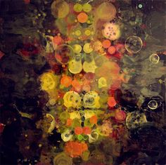 Erin Parish : Speakeasy 2012 48 x 48 in Oil and resin on canvas Mixed Media Artwork, Inspirational Artwork, Fine Art Gallery, Printmaking, Abstract Art, Art Pieces, Contemporary, Canvas, Drawings
