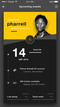 Remqiu music events tickets ios app design ui dribbble shot 4