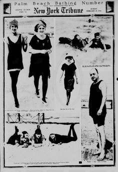 """""""Palm Beach Bathing Number,"""" The New York tribune (New York, NY), February 27, 1916. Library of Congress, Chronicling America: Historic American Newspapers."""