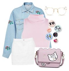 """""""❕"""" by fashionidea5 ❤ liked on Polyvore featuring Ksenia Schnaider, Ray-Ban and Bing Bang"""