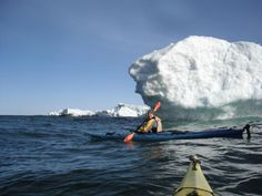 Ice Paddling in Lake Superior. Image from Paddling Michigan.